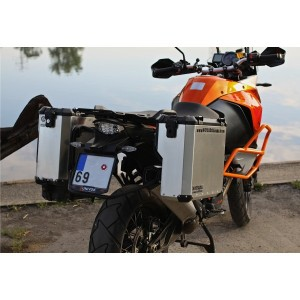 PRO pannier system for KTM 1190 Adv/R with aftermarket